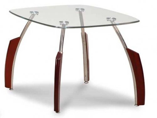 Global Mahogany Chrome End Table
