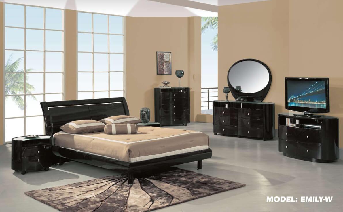 Emily Global Dark Brown Bedroom Set