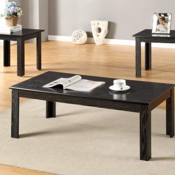 3 Piece Black Coffee and End Table Set by Global Trading