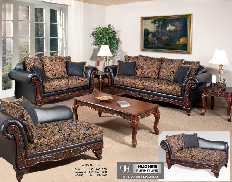 Silas Ebony Sienna Sofa And Loveseat Living Room Sets