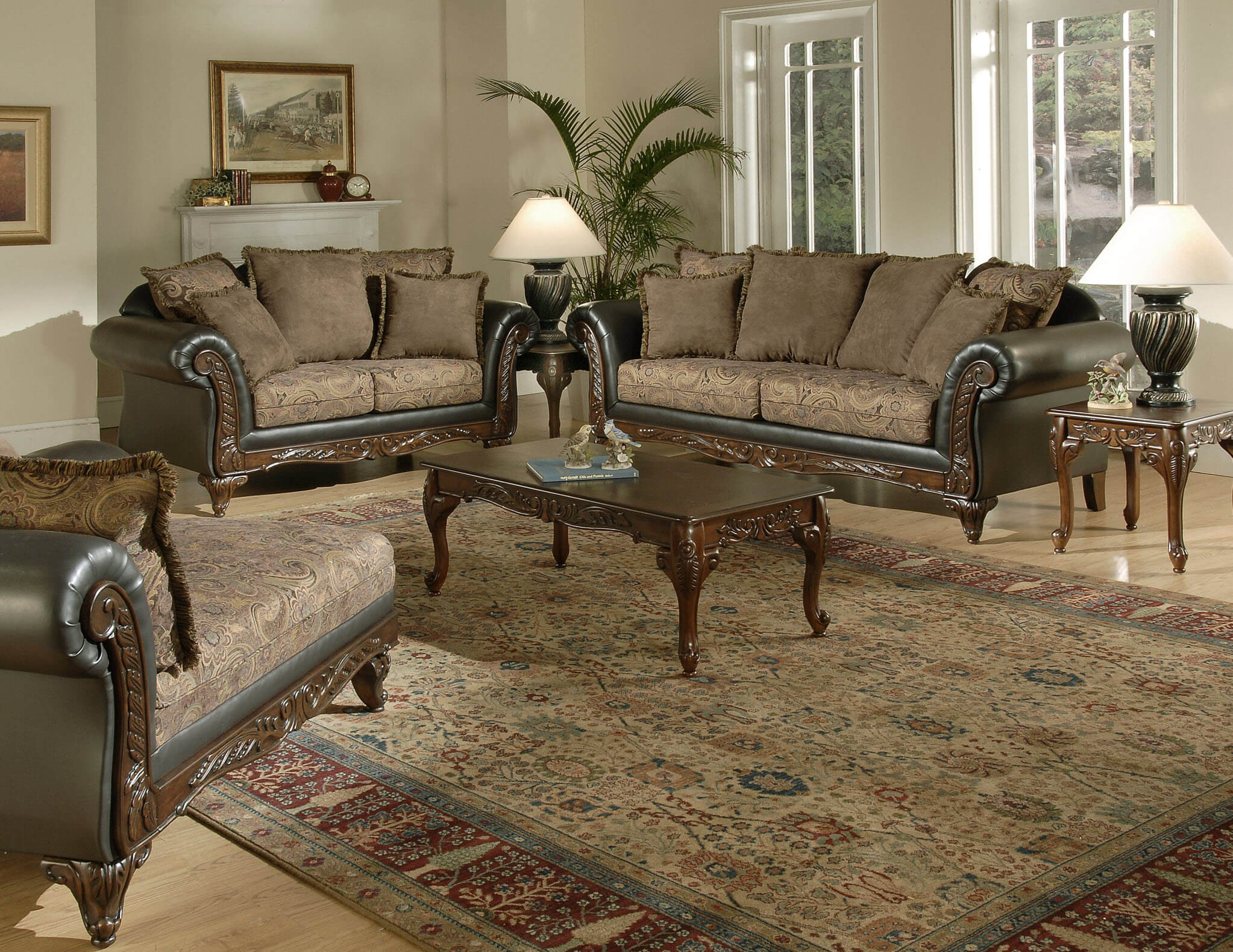 San Marino Silas Raisin Sofa and Loveseat | Living Room Sets