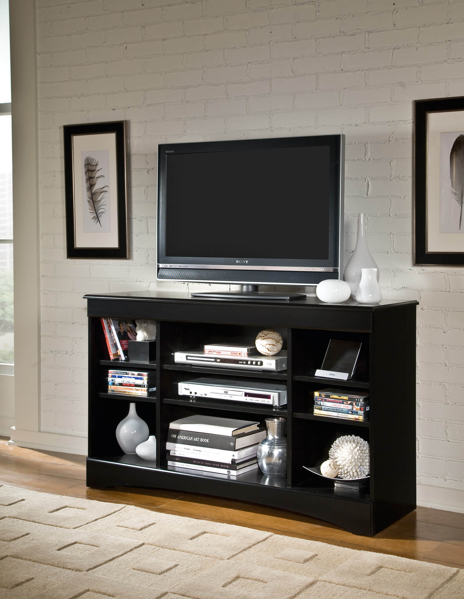 Kith Black Assembled Tv Stand Entertainment Furniture