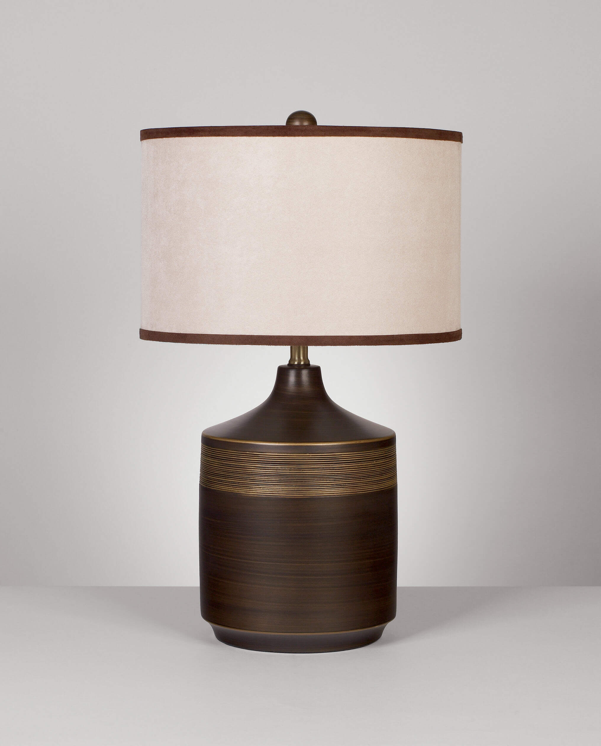 Ashley Brown And Gold Table Lamps