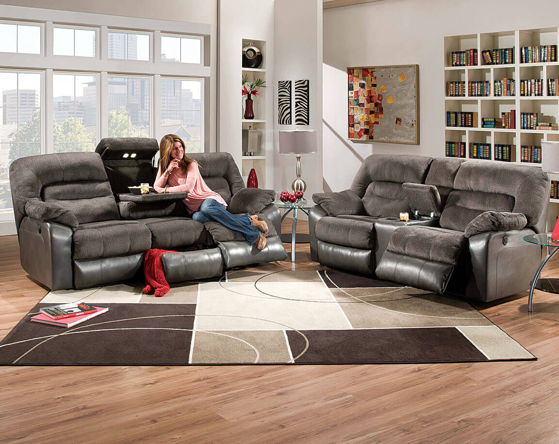 Leather Living Room Sets : simmons microfiber sectional - Sectionals, Sofas & Couches