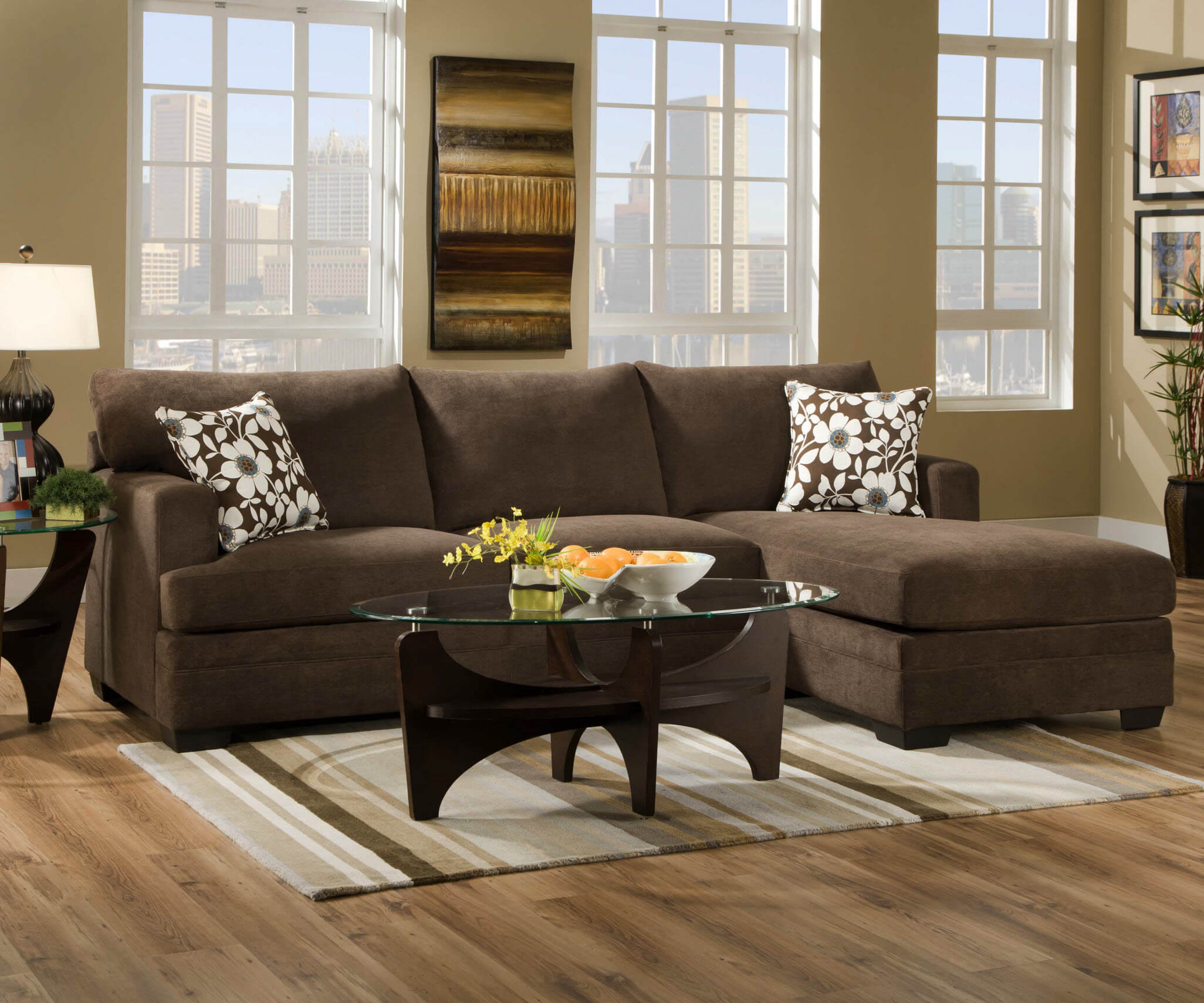 Simmons caprice java sectional sectional sofa sets - Simmons living room furniture sets ...