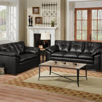 Bravo Black Sofa and Loveseat