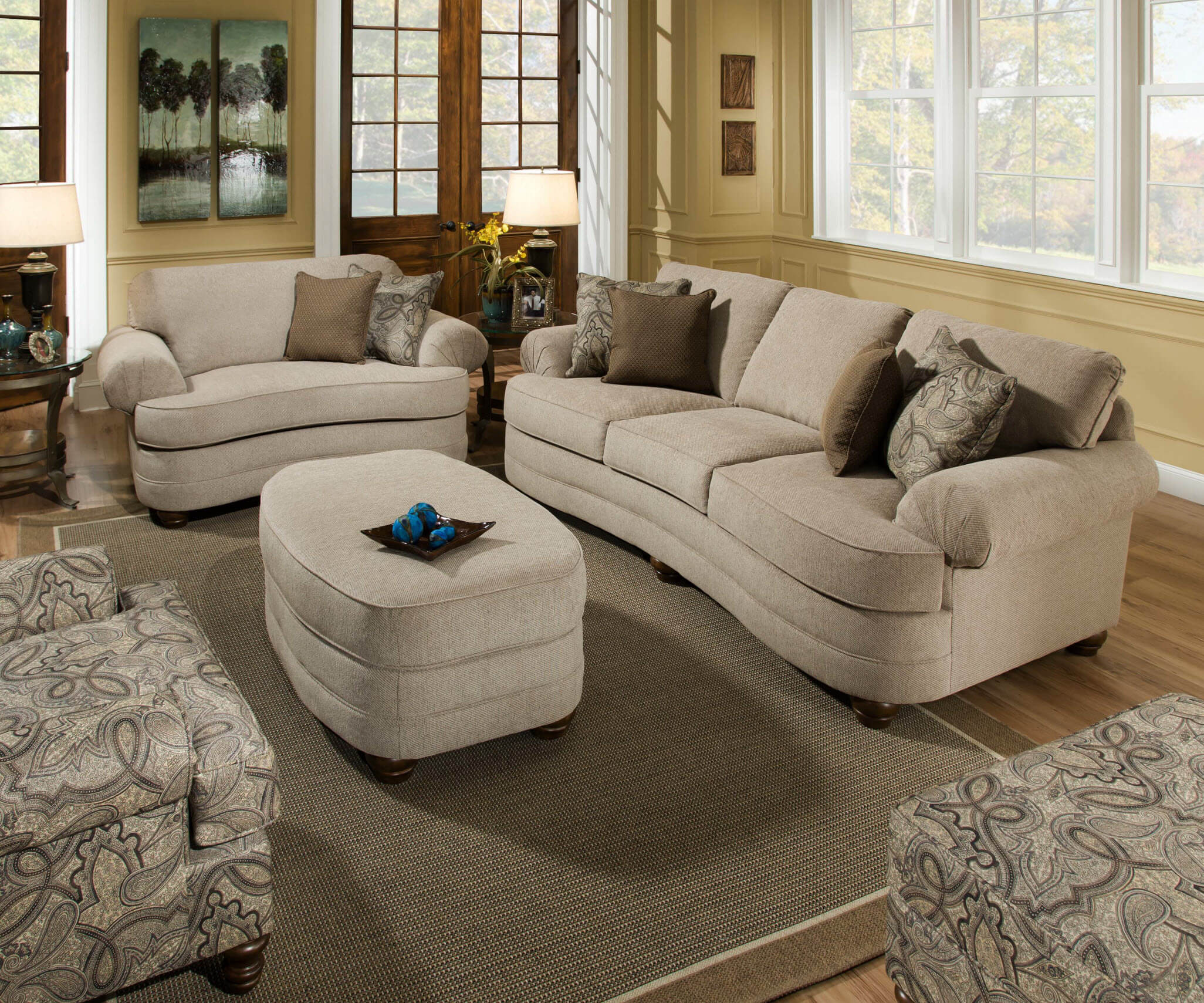 Simmons Living Room Set. Fabric Living Room Sets Nasharia Barley Sofa and Chair