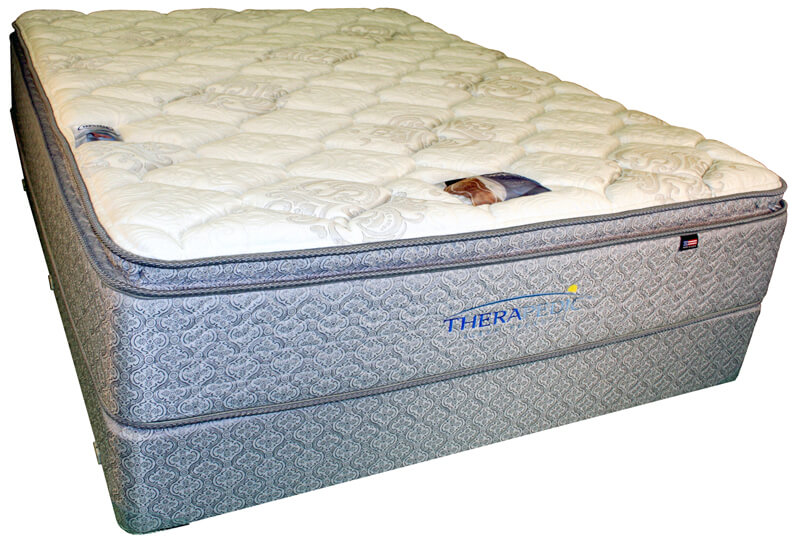 therapedic u2013 backsense exquisite pillow top mattress
