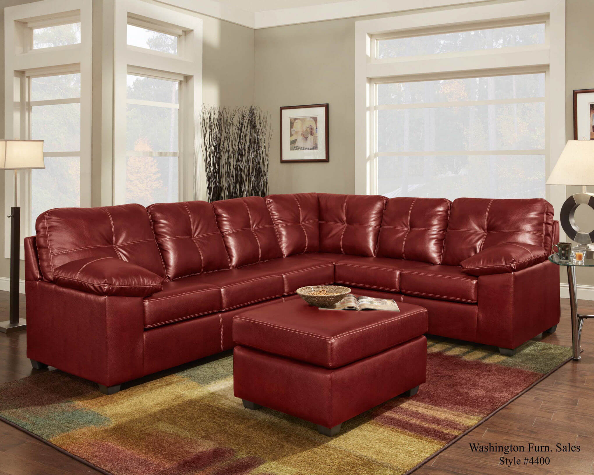 Washington Ty Red Sectional