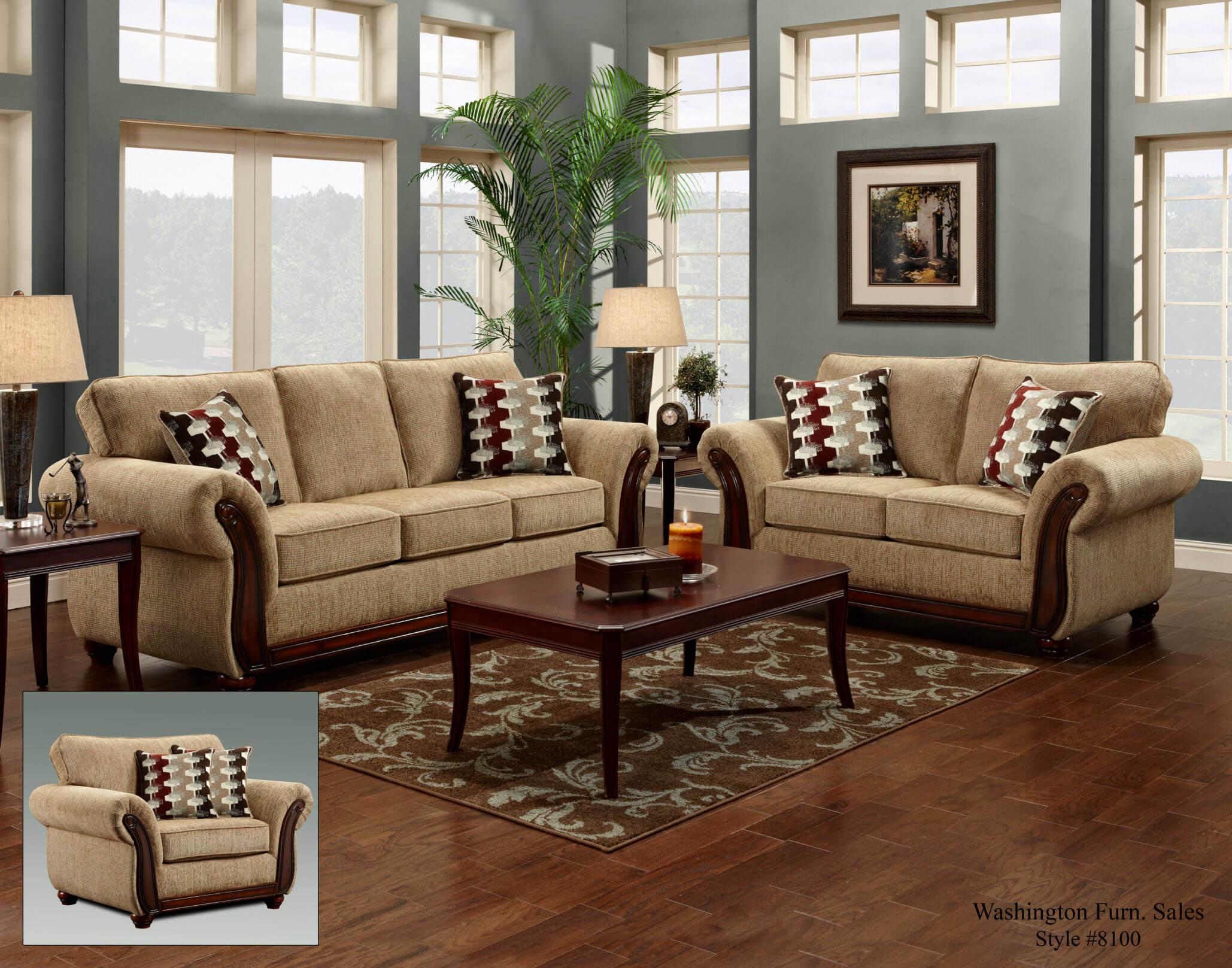 Radar Havana Sofa and Loveseat  Fabric Living Room Sets
