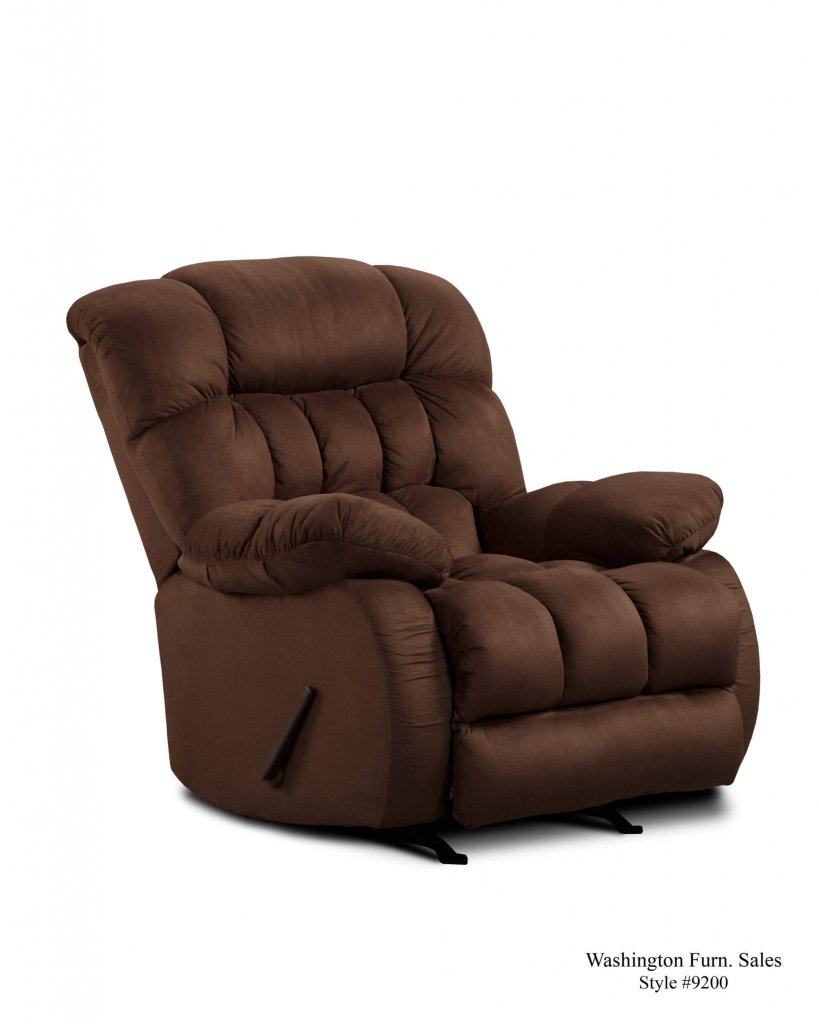 Washington Softsuede Fudge Recliner Recliners