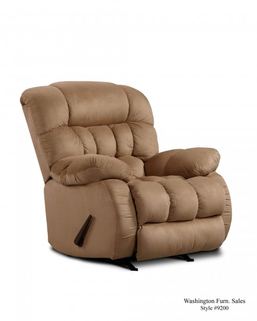 Washington Softsuede Taupe Recliner