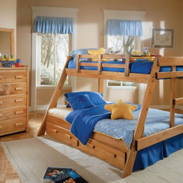 Woodcrest Twin/Full Solid Pine Bunk Bed
