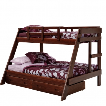 Woodcrest Rustic Brown Twin/Full Bunk Bed