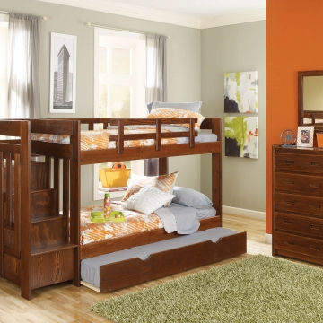 Woodcrest Stair Step Bunk Bed
