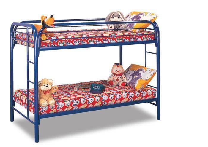 Twin Over Twin Metal Bunk Bed Kids Bunk Beds