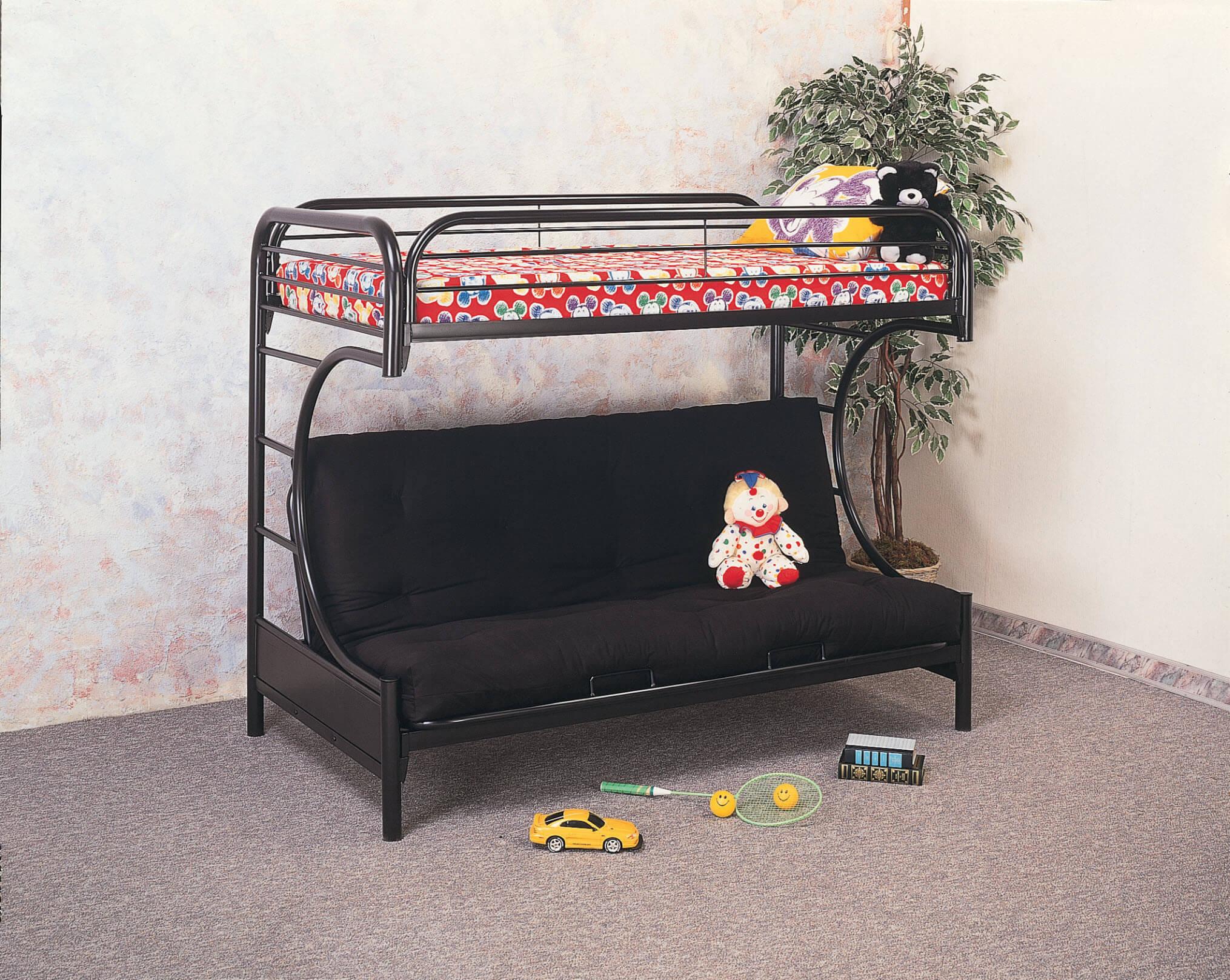 Metal Futon Bunk Bed Kids Bunk Beds