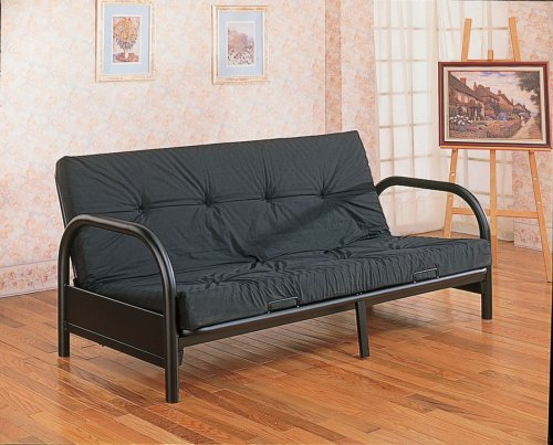 Black Metal Futon Bed