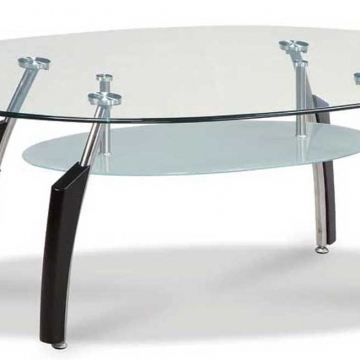 Global Black Chrome Coffee Table