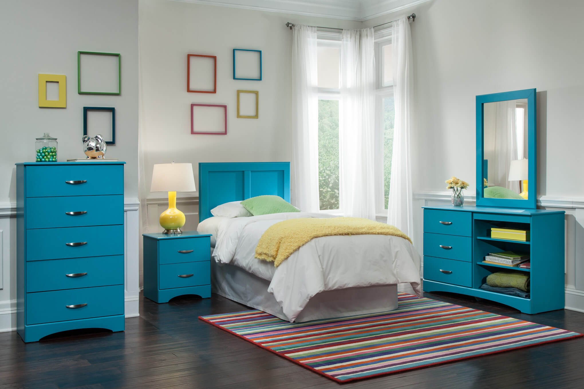 Kids  Bedroom Sets. Kith Turquoise Youth Bedroom Set   Kids  Bedroom Sets