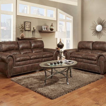 Washington Padre Espresso Sofa and Loveseat