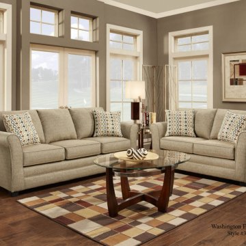 Washington Movers Straw Sofa and Loveseat