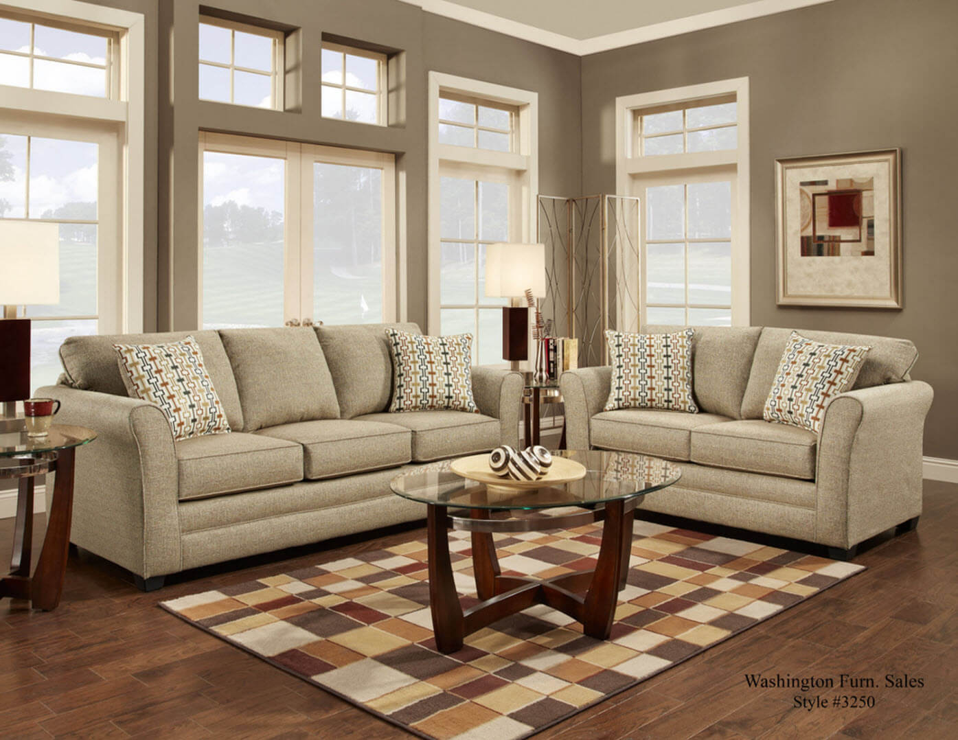 Movers Straw Sofa and Loveseat | Fabric Living Room Sets