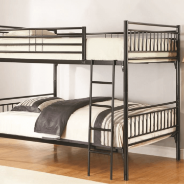 Black Full over Full Metal Bunk Bed