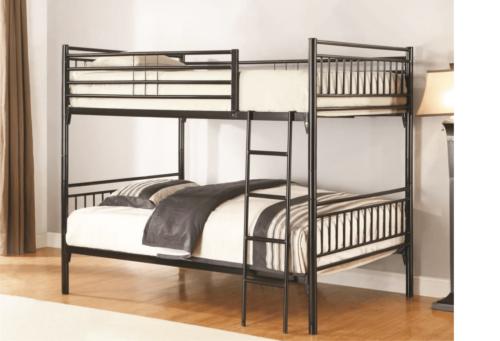 Black Full over Full Metal Bunk Bed