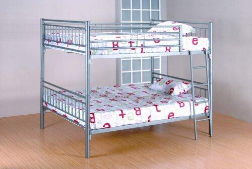 Grey Full over Full Metal Bunk Bed