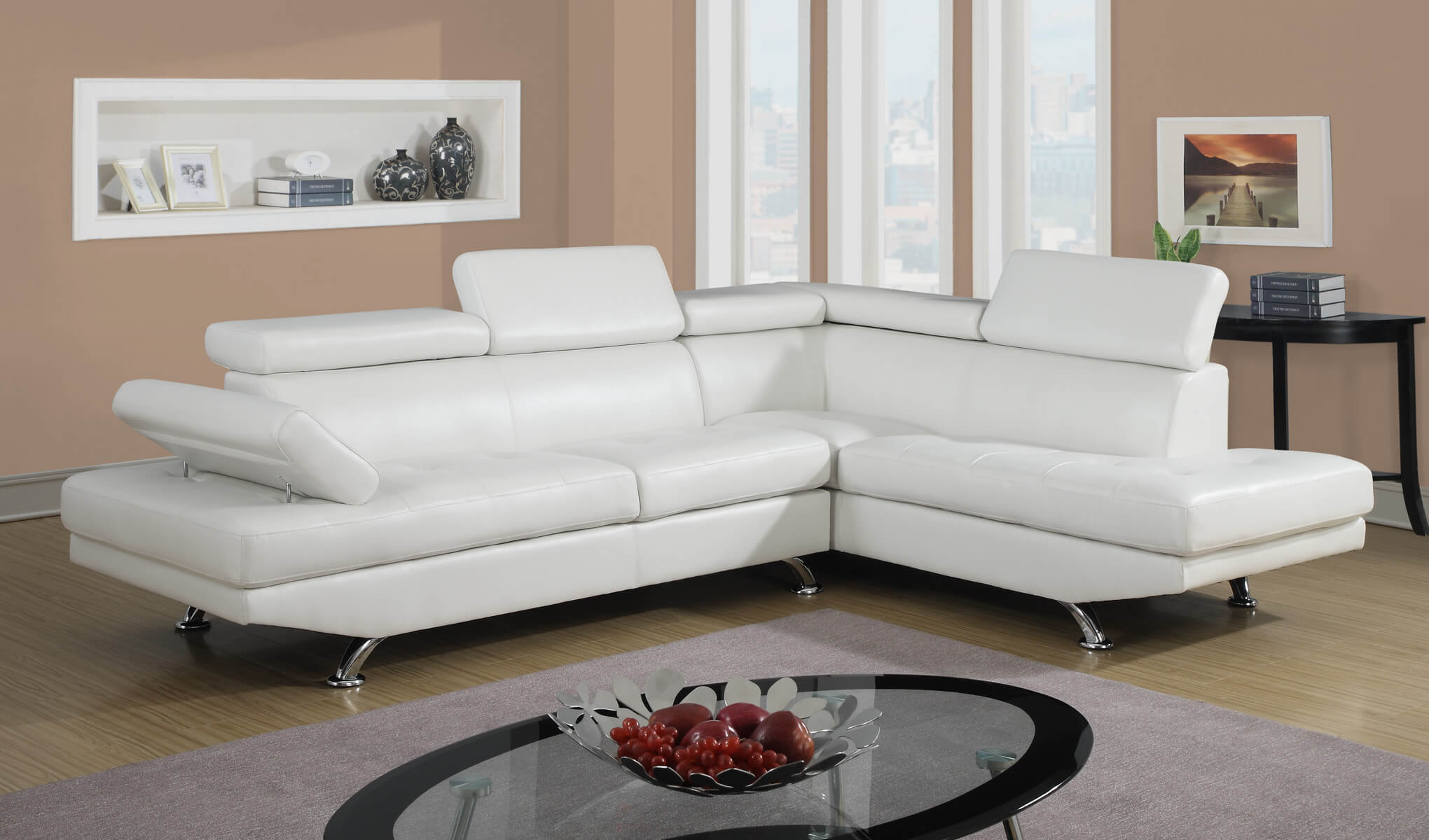 White modern sectional sectional sofa sets - Cheap living room furniture toronto ...