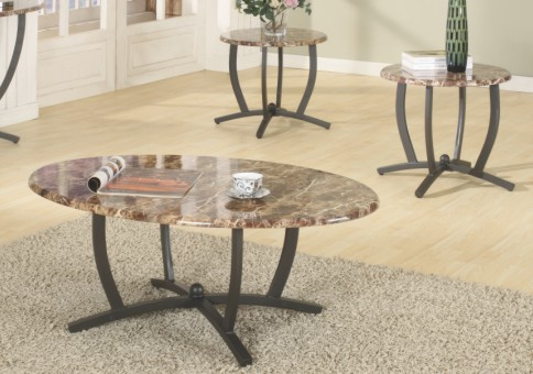 Faux Marble Coffee & End Table Set