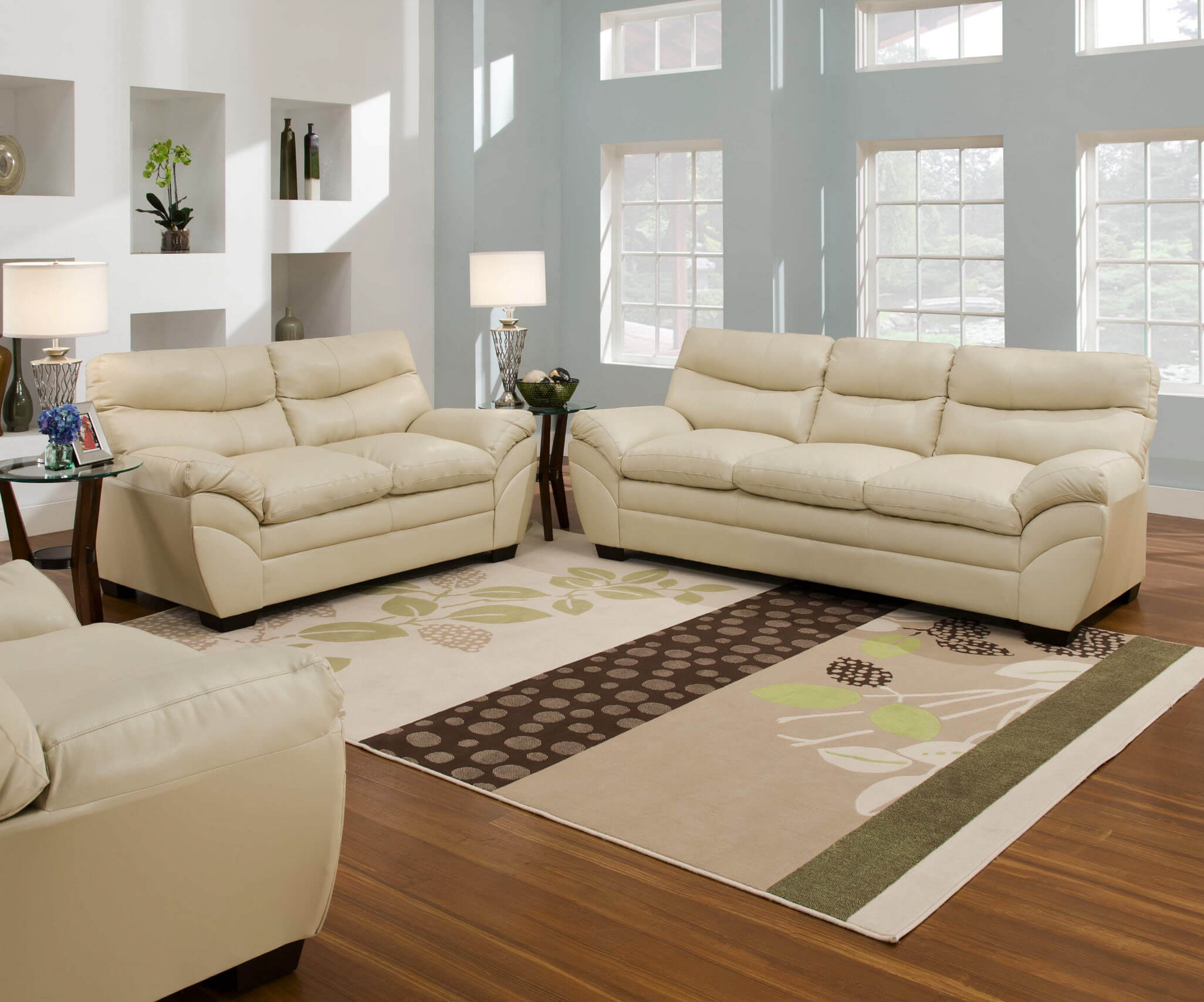 Soho Natural Sofa and Loveseat