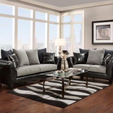 Victory Lane Dolphin Sofa and Loveseat