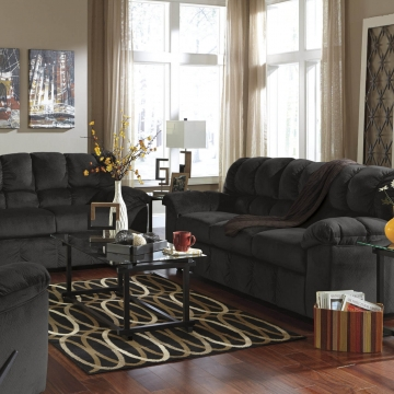 Simmons Trinidad Taupe Living Room Set Fabric Living