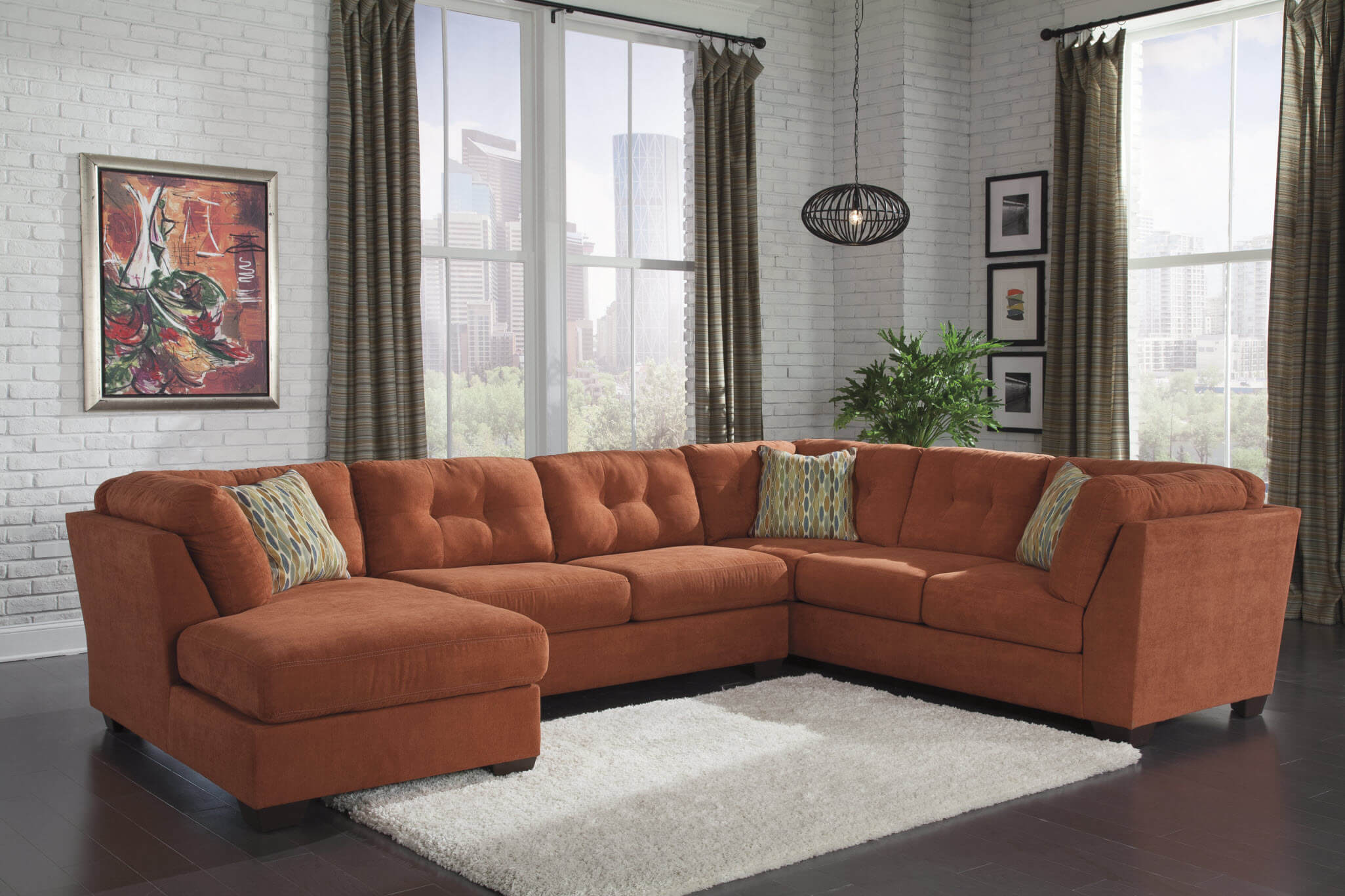 delta city rust sectional sectional sofa sets. Black Bedroom Furniture Sets. Home Design Ideas