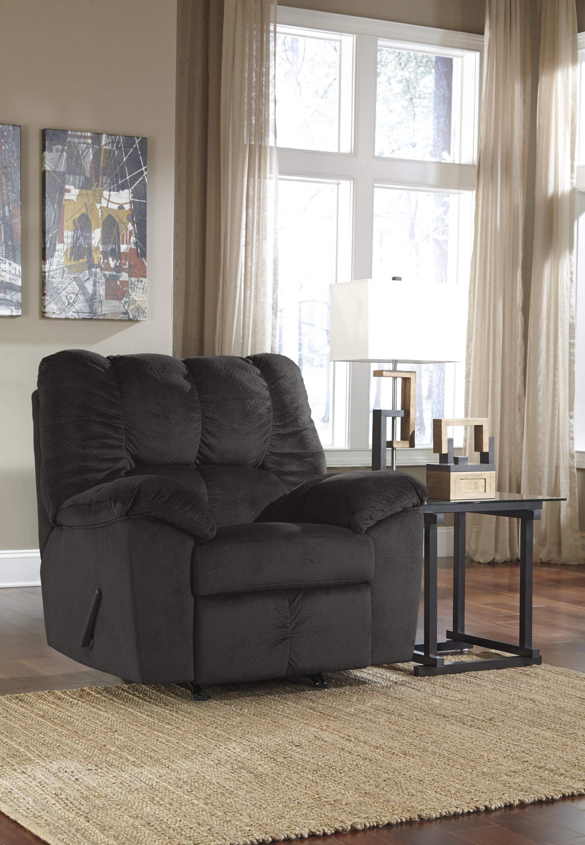 Julson Ebony Sofa And Loveseat Fabric Living Room Sets