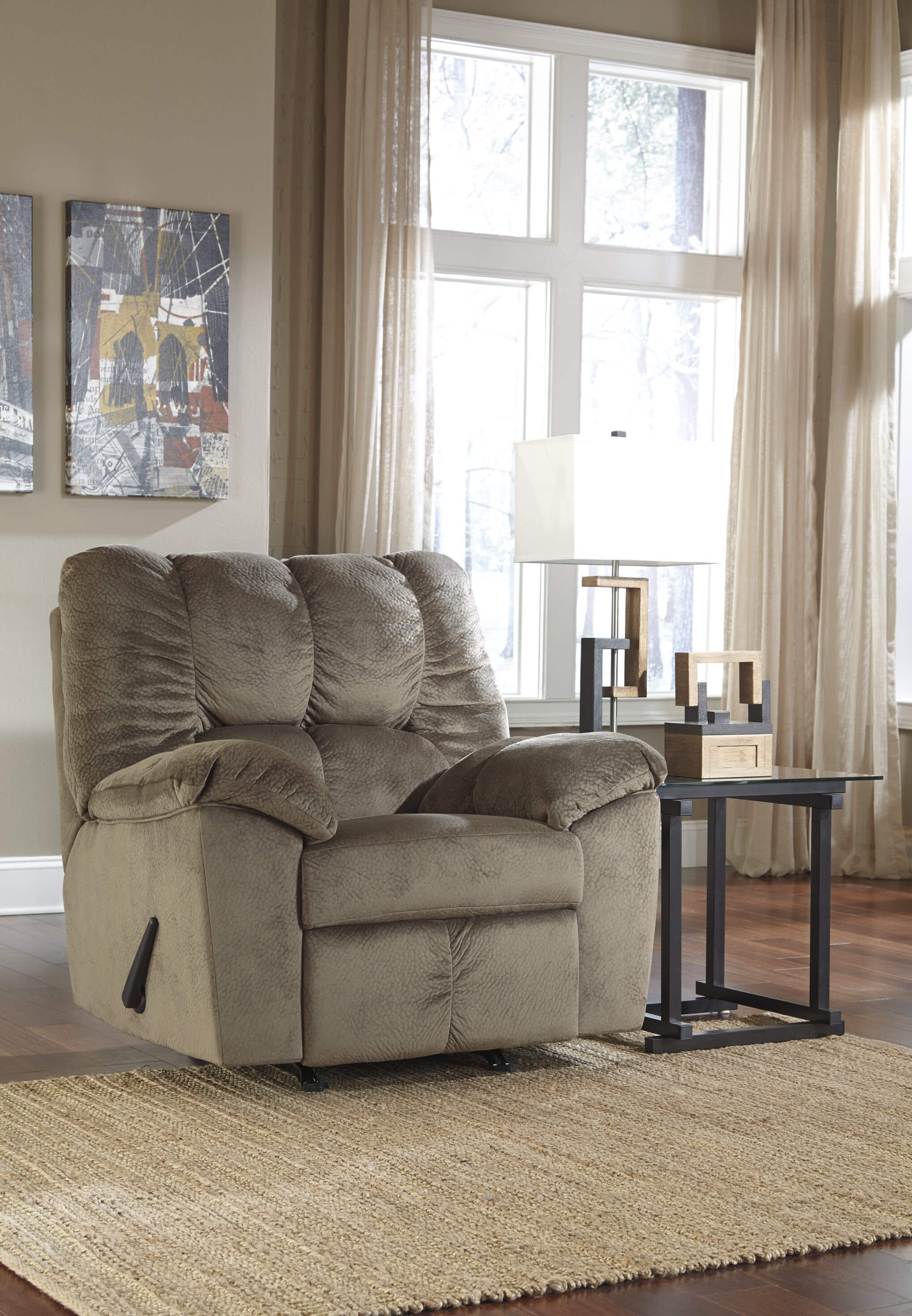 Julson Dune Sofa And Loveseat Fabric Living Room Sets
