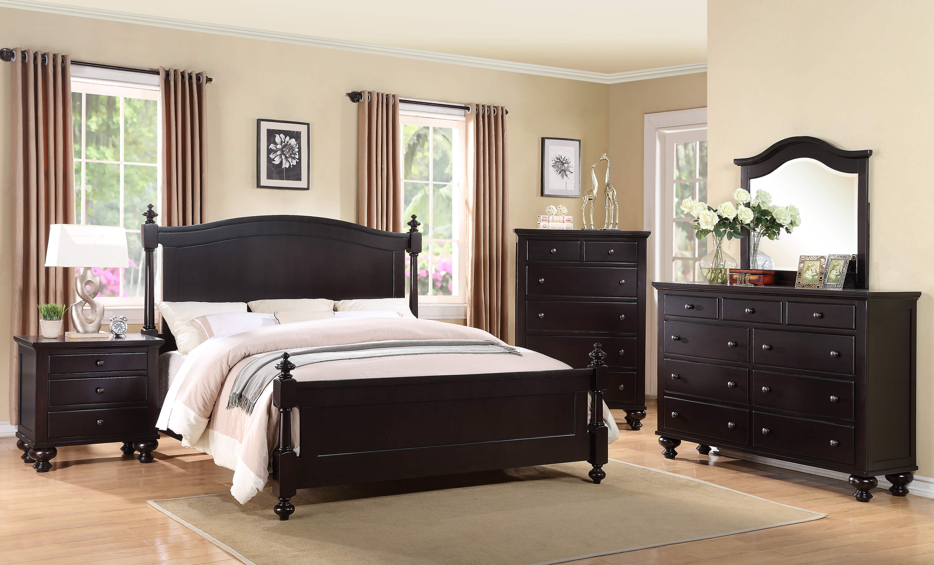 Sommer Black Bedroom Set