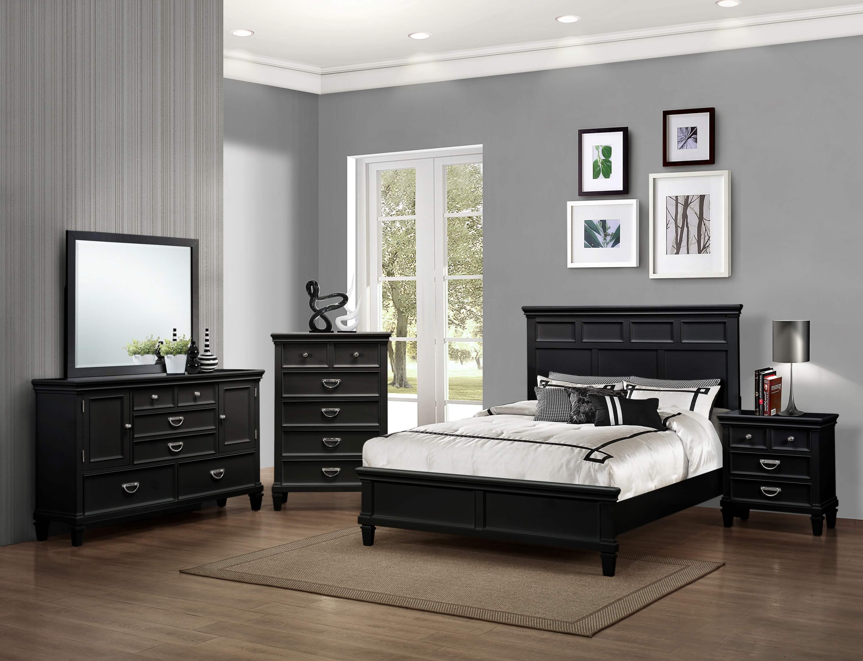 Hannah Black Bedroom Set | Bedroom Furniture Sets