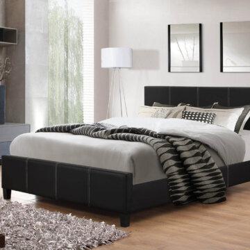 Black Platform Style Bed
