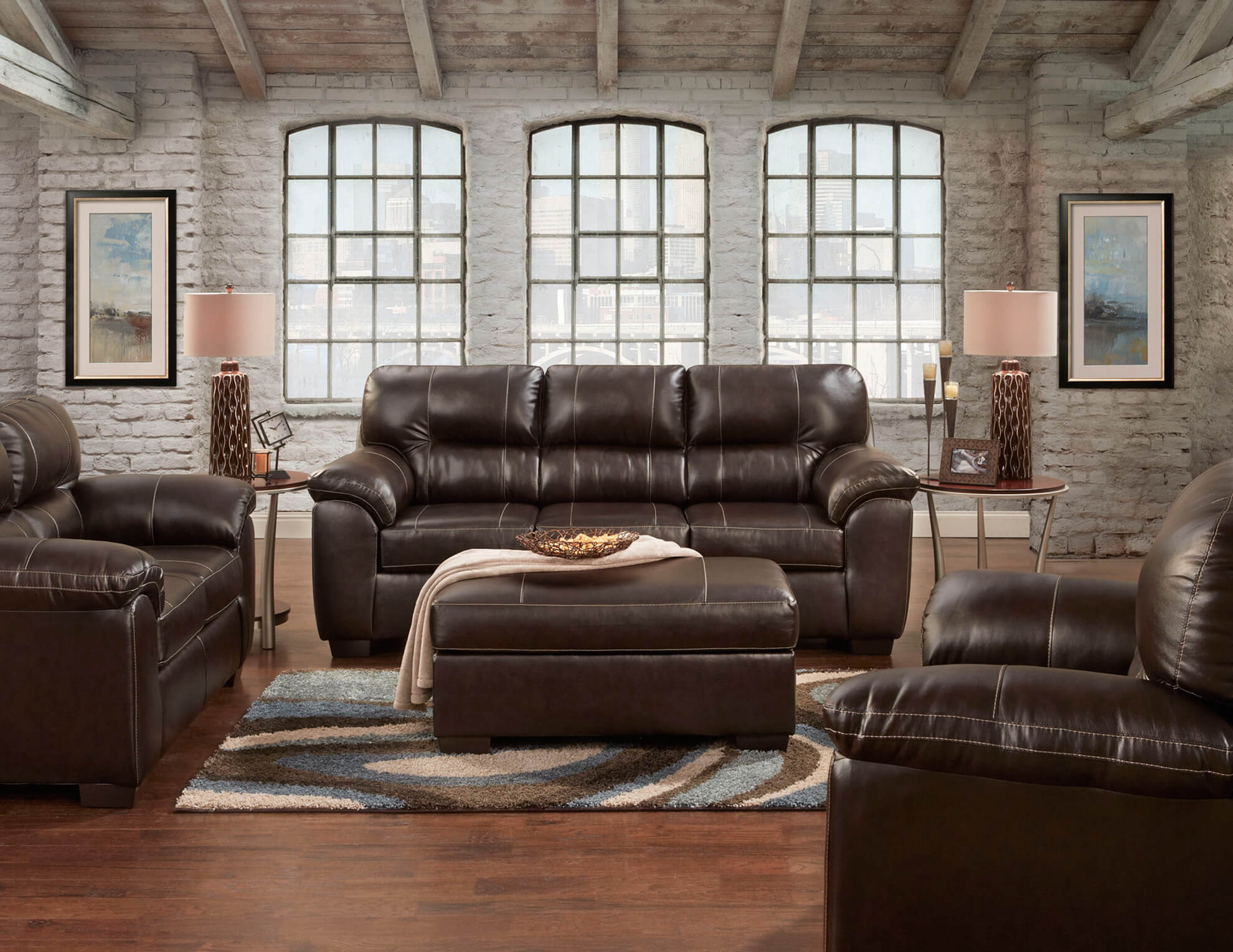 brown leather living room furniture brown sofa and loveseat leather living room sets 19683