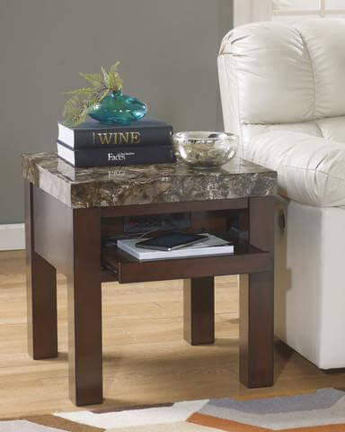 Lift Top Coffee Table - Faux Marble