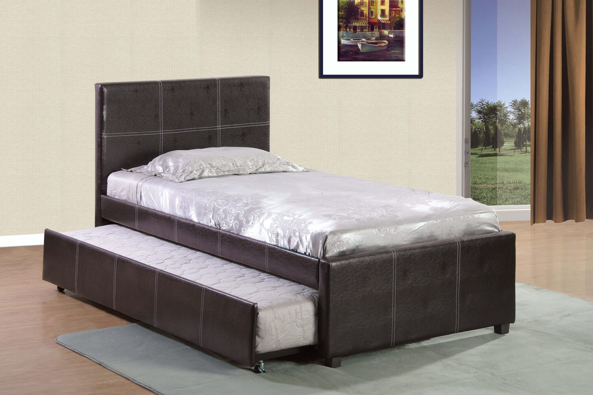 Twin Bed With Trundle By Home Source Kids Beds