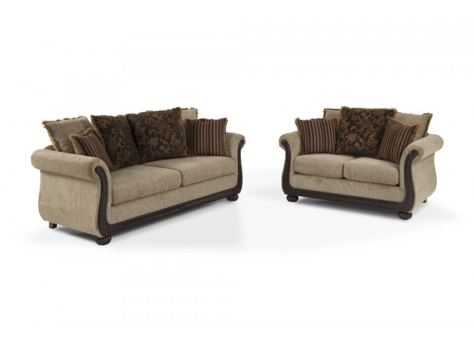 Radar Coffee Sofa And Loveseat Fabric Living Room Sets
