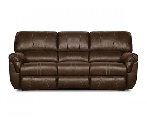 Renegade Mocha Reclining Sofa and Loveseat by Simmons