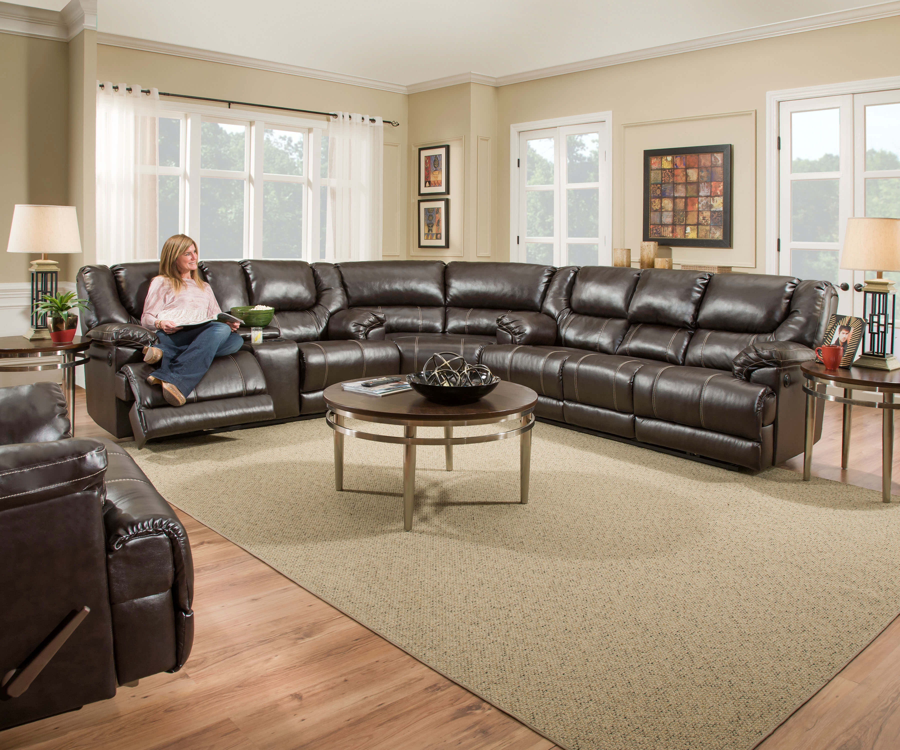 Bingo Brown Reclining Sectional Sofa Sets by Simmons