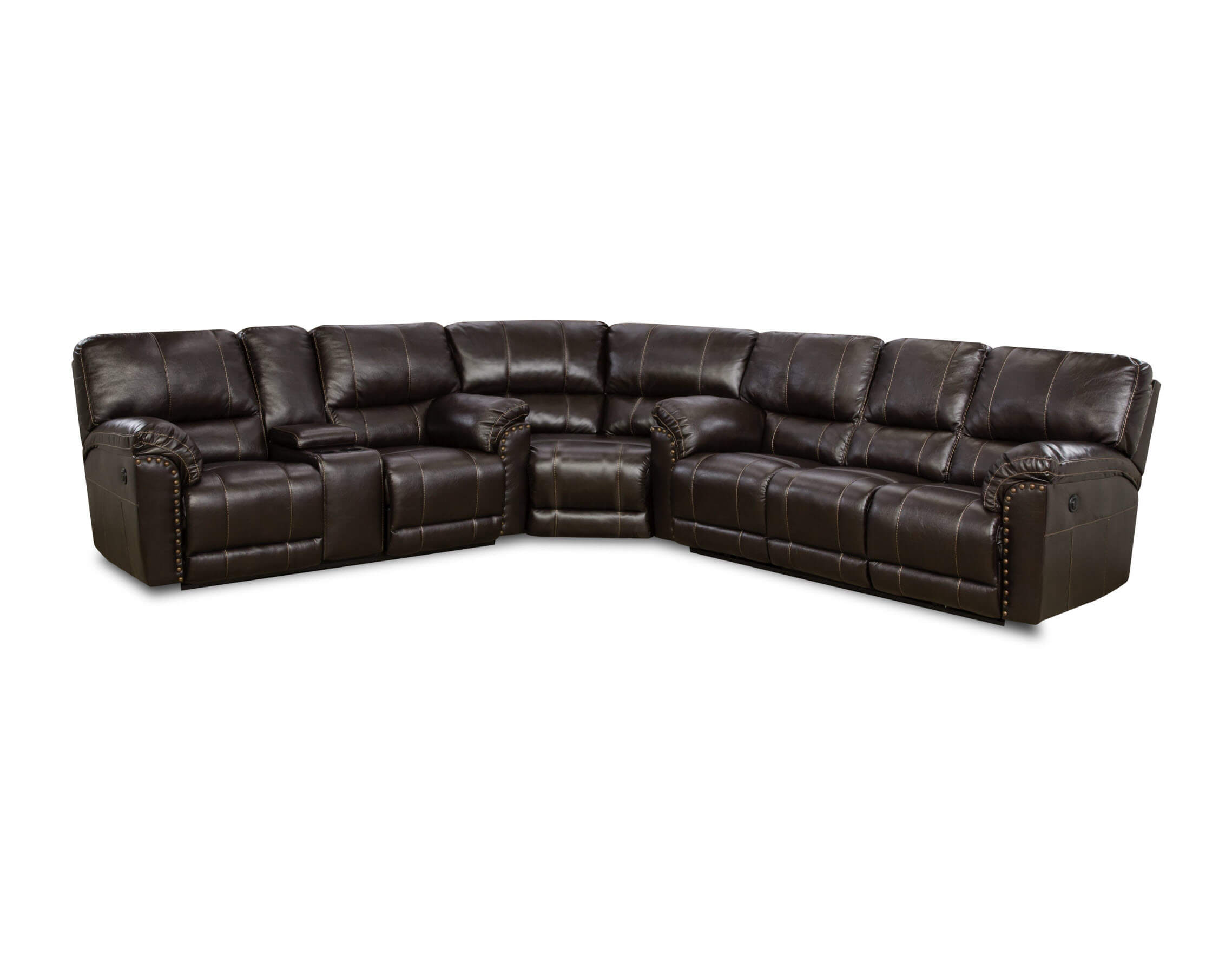 Abilene Chestnut Reclining Sectional by Simmons