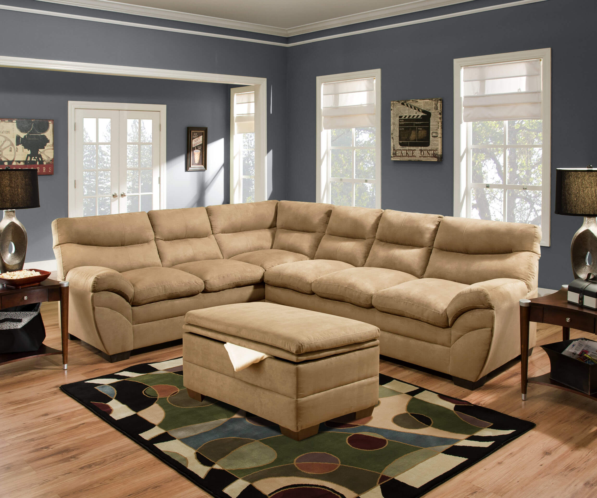 Simmon luna latte sectional sectional sofa sets - Simmons living room furniture sets ...