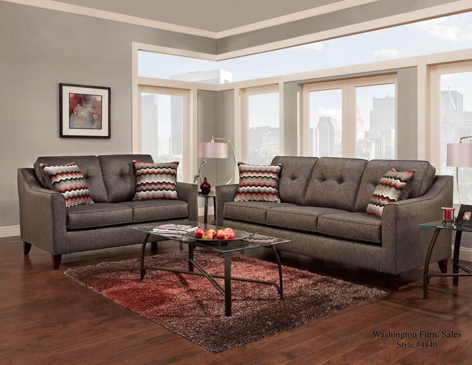 Stoked Ash Sofa And Loveseat By Washington